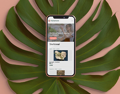 """""""Floramore"""" mobile portalo dizainas"""