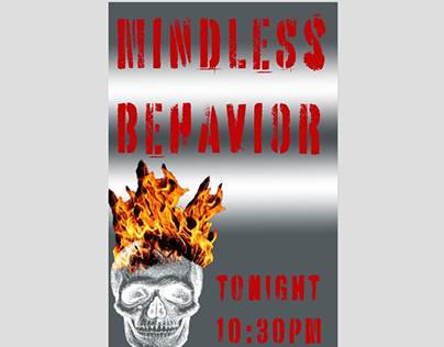 MINDLESS BEHAVIOR POSTER TYPOGRAPHY ASSIGNMENT