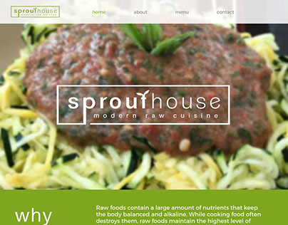 SproutHouse Modern Raw Cuisine – Portfolio Piece
