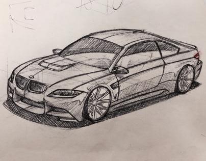 bmw e92 m3 pen sketch