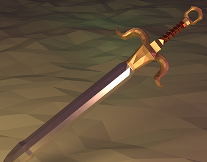Low Poly Mesh Scene – Capricorn Sword (Animation + Pic)