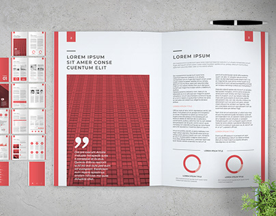 Multipurpose Brochure with Red Accents