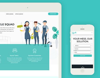 Web Design for Cleaning Company