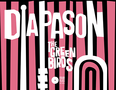 """""""DIAPASON"""" The Green Birds - Original Vinyl Artwork"""