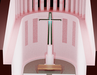 Pink Church - minimalistic