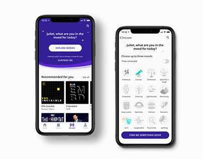 Current - a podcast discovery app