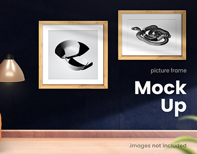 Modern Interior Picture Frame Poster mock up collection
