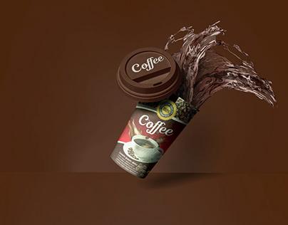 Realistic Paper Cup mockup Mockuphut Exclusive