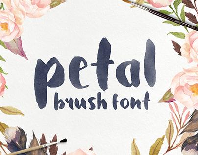 Petal - Handcrafted Brush Font