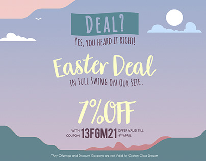 Happy Easter Sale Banner 2021