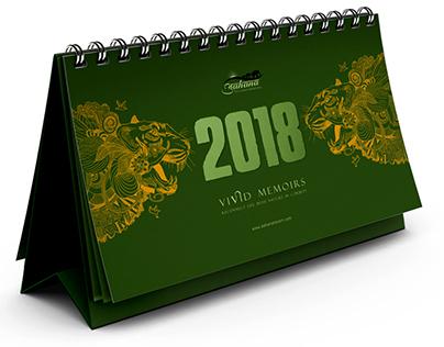 Calendar design for Aahana Resort
