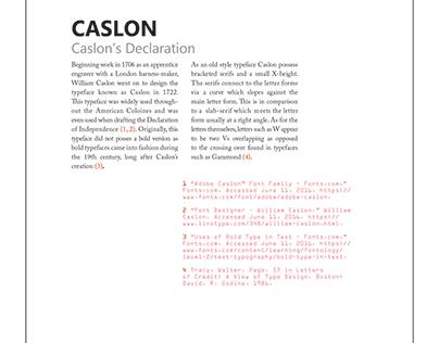 Font project - Caslon