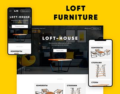 Landing page for loft furniture