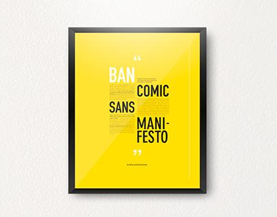 Ban Comic Sans Manifesto
