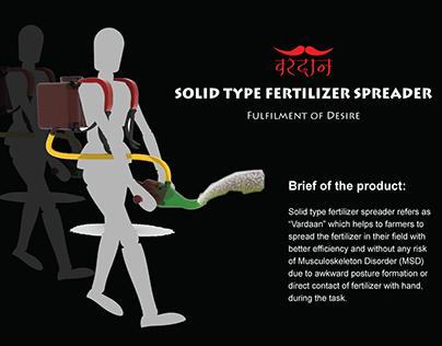 Agricultural Equipment : Solid Type Fertilizer Spreader