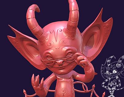 Yari 3D character sculpt