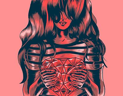 Illustration developed for T-shirt printing.