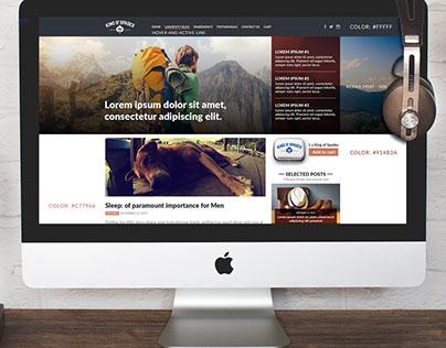 King of Spades blog design