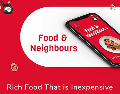 Food & Neighbors - Food App