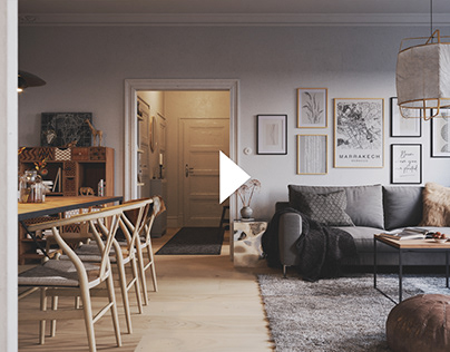 Scandinavian Interior [Full CGI]