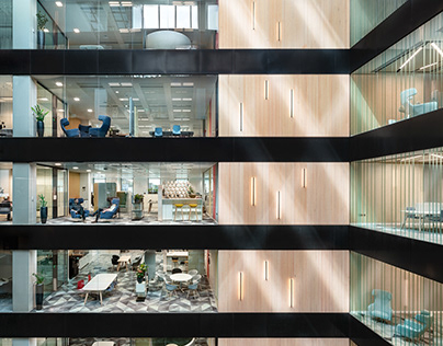 Dublin Landings, Headquarters Interior by Perkins&Will