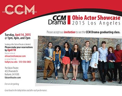 Ohio Actor Showcase postcard & booklet