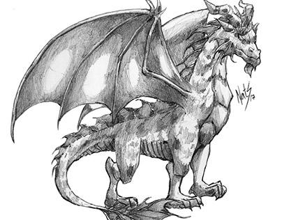 Dragones en grafito (2017)