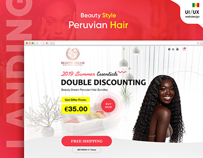 Design Landing Page Hair Extension