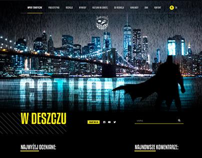 Gotham w deszczu - blog