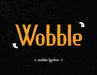 Wobble modular typeface