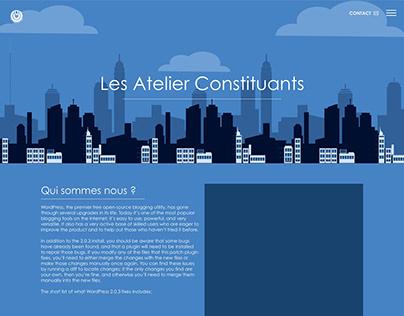 Web Design - Les Ateliers Constituants