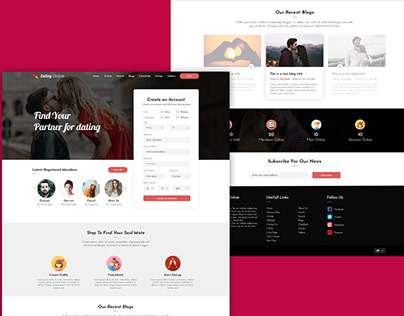 Dating website concept