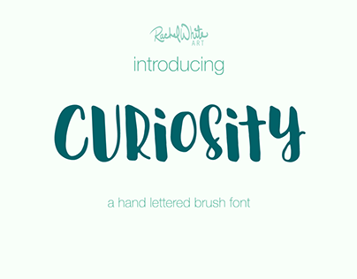Curiosity, a hand lettered brush font