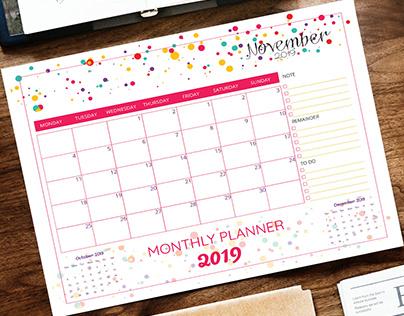 Desk & Wall Calendar