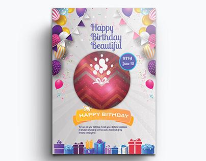Birthday Flyer design