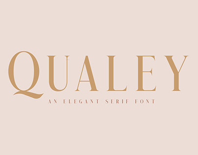 Qualey - Elegant Serif Font (Free Download)