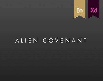 ALIEN COVENANT design concept of official site