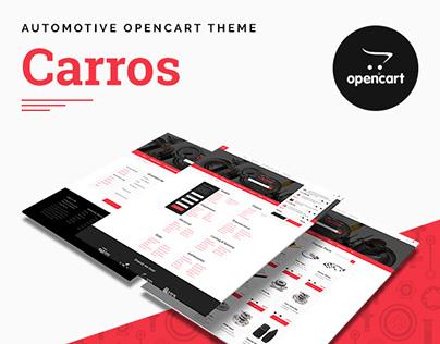 Carros — Car Parts OpenCart Theme