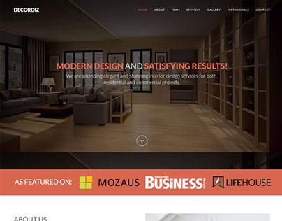 DecorDiz – Interior design html template (FREE)