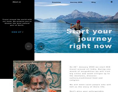 The main website page UI design Travel around the world
