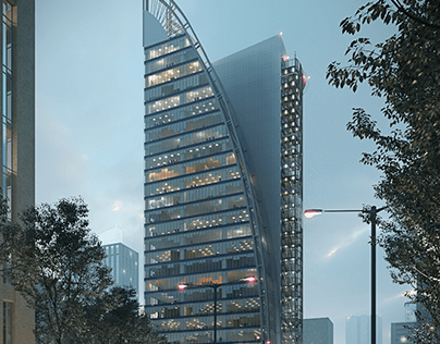 Proyecto edificio de oficinas, CDMX.