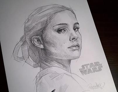 PADME - Pencil fan-art portrait