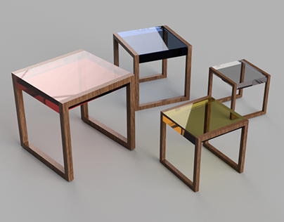 My Take On The Nesting Tables by Josef Albers