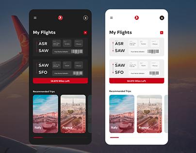 Turkish Airlines Flight Assistant App Design