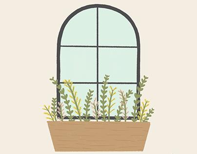 Window Box | Simple Joys Illustration Series