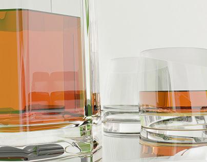 Brand glass design in ultra high resolution.