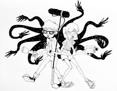 Monster Ink Drawings