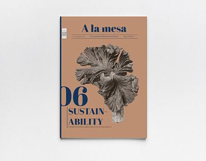Magazine cover A LA MESA Special Issue: Sustainability