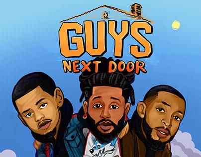 Guys Next Door Podcast Design