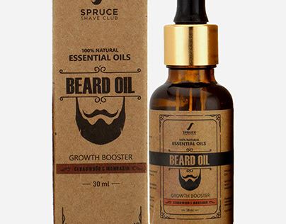 Beard Oil Packaging || Fast Custom Boxes